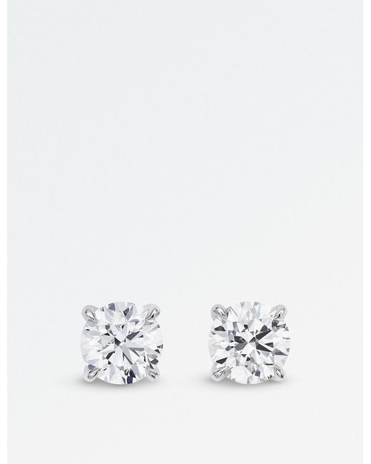 BUCHERER JEWELLERY - Metallic 18k White-gold Diamond Earrings - Lyst