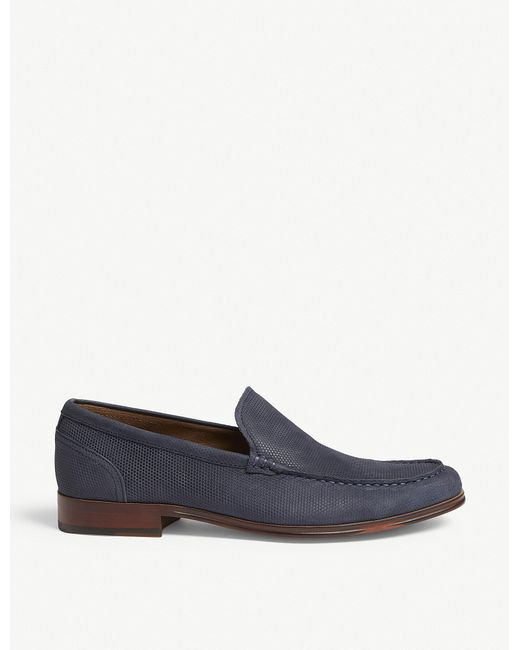 ALDO - Blue Gilawiel Perforated Loafers for Men - Lyst