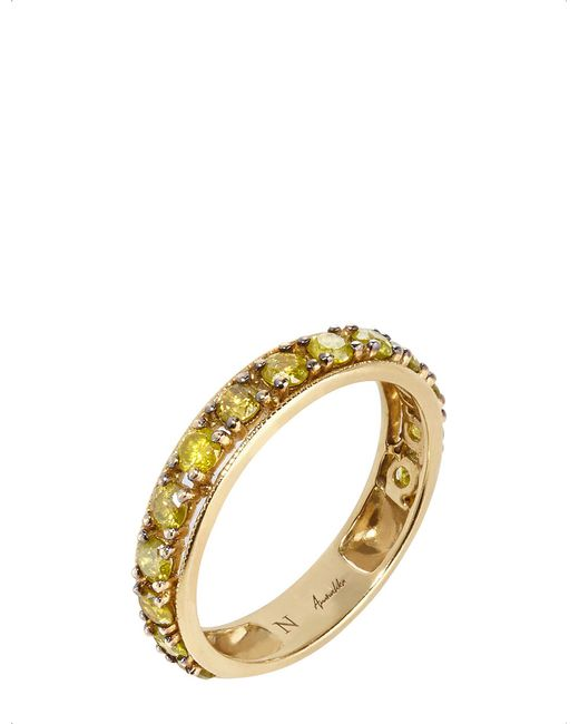 Annoushka - Metallic Dusty Diamonds 18ct Yellow-gold And Diamond Eternity Ring - Lyst