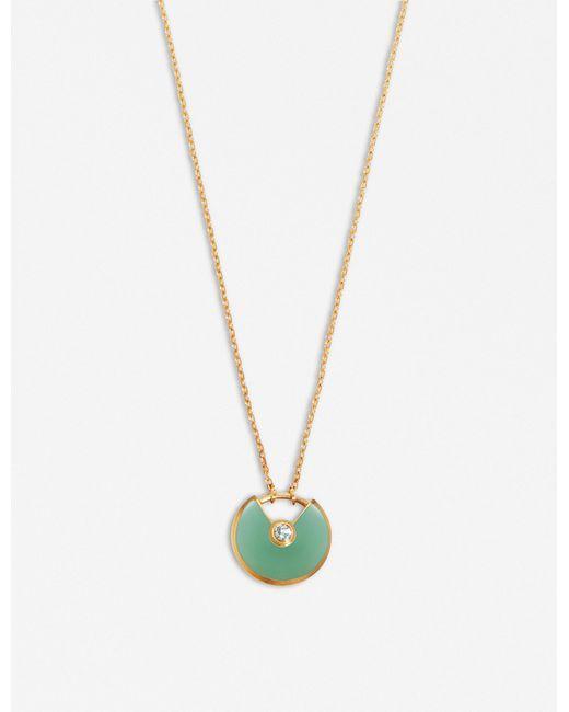 Cartier - Green Amulette De 18ct Yellow-gold - Lyst