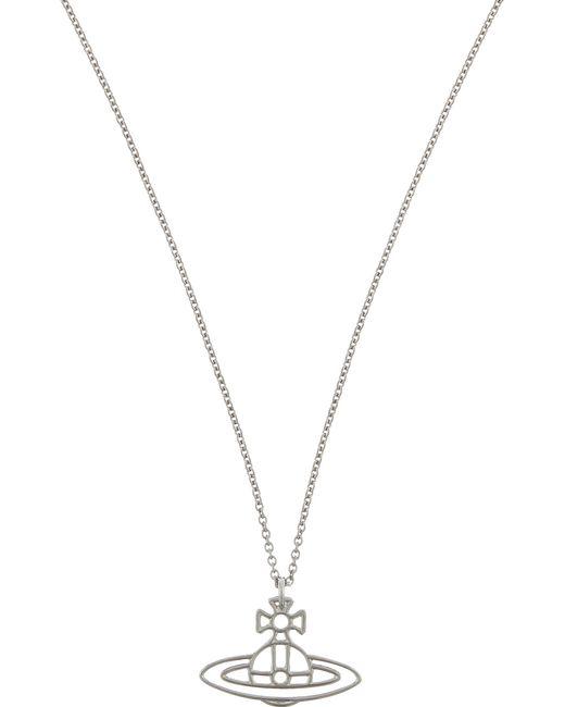 Vivienne Westwood - Black Thin Lines Flat Orb Necklace - Lyst