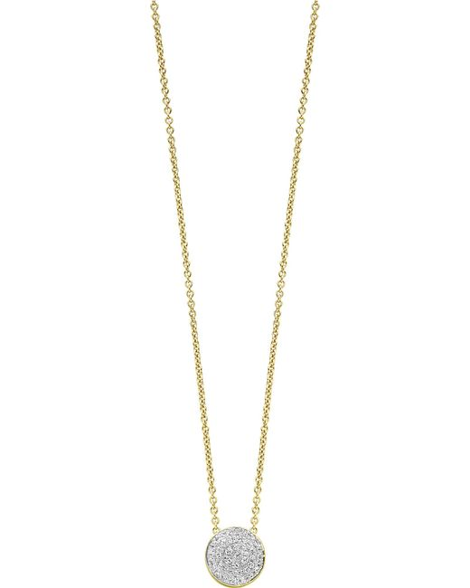 Monica Vinader - Metallic Ava 18ct Yellow Gold-plated Vermeil And Diamond Button Necklace - Lyst