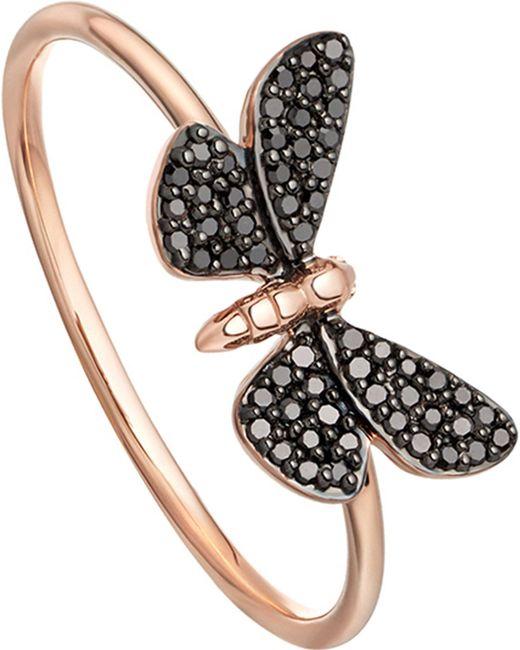 Astley Clarke - Metallic Cinnabar Papillon 14ct Rose-gold And Black Diamond Ring - Lyst