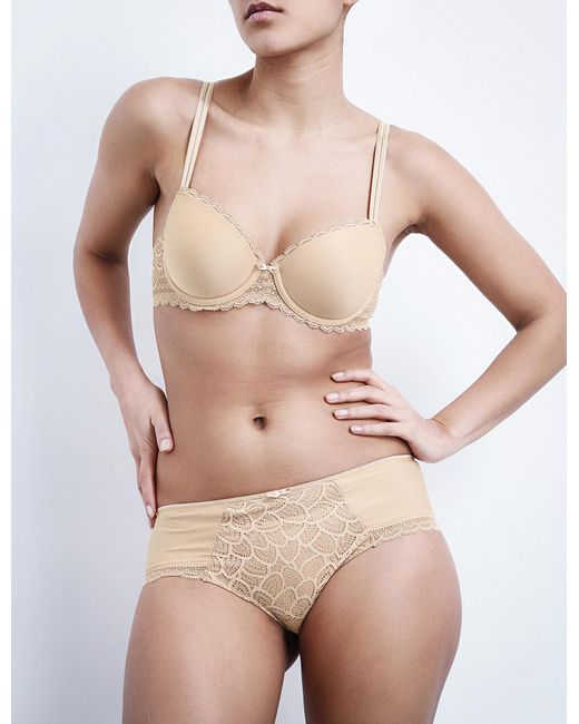 Chantelle | Natural Merci Jersey And Stretch-lace Memory Foam T-shirt Bra | Lyst