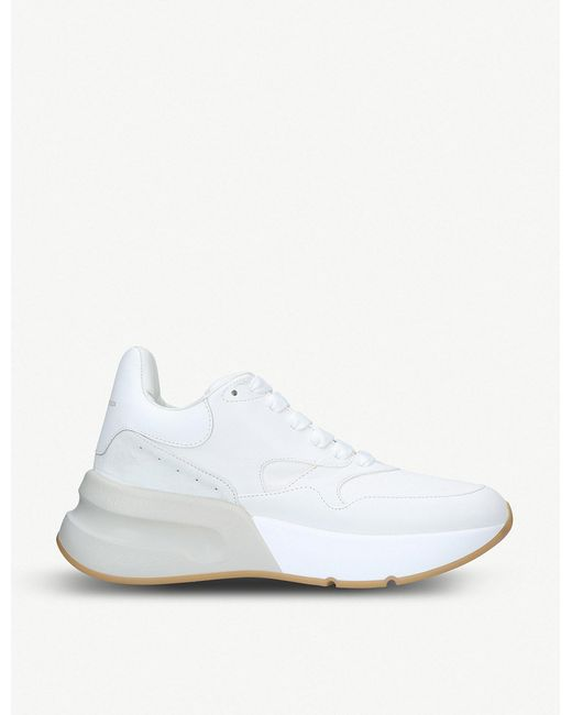 Alexander McQueen - White Runner Leather Trainers - Lyst