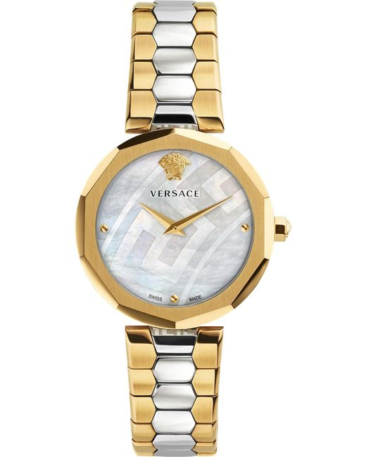 Versace | Metallic V-muse Gold And Stainless Steel Watch | Lyst