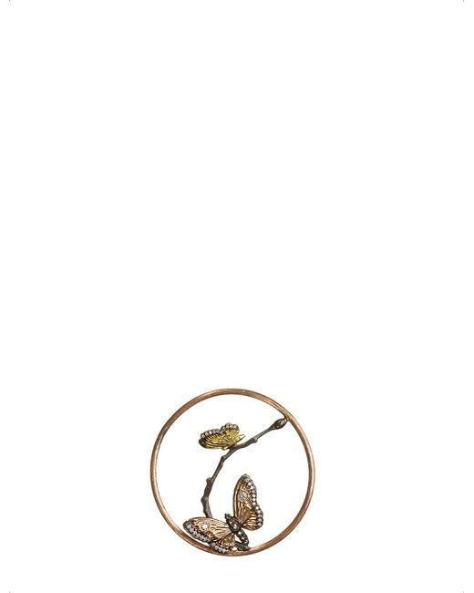 Annoushka - Metallic Butterflies Hoopla 18ct Rose-gold And Diamond Pendant - Lyst