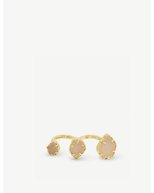 Kendra Scott Metallic Naomi 14ct Gold-plated And Iridescent Drusy Ring