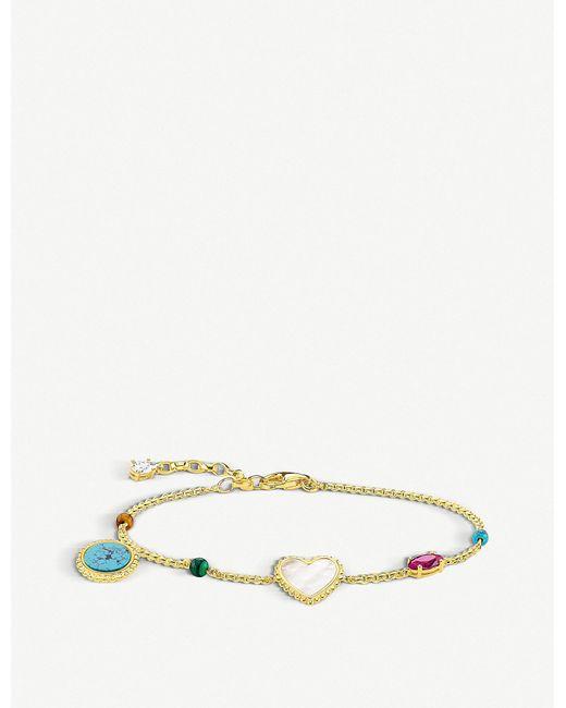 Thomas Sabo - Metallic Riviera Multi-charm 18ct Yellow-gold Bracelet - Lyst