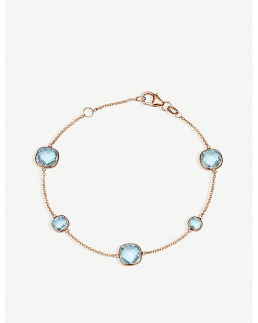BUCHERER JEWELLERY - Metallic Colour Drops 18ct Rose Gold And Topas Bracelet - Lyst