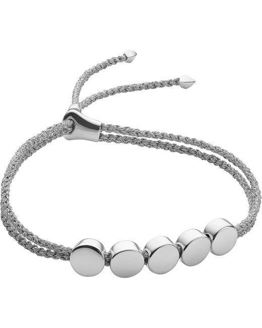 Monica Vinader - Metallic Linear Bead Sterling Silver Friendship Bracelet - Lyst