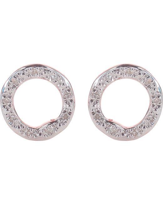 Monica Vinader - Black Riva 18ct Rose-gold Vermeil Pavé Diamond Circle Stud Earrings - Lyst
