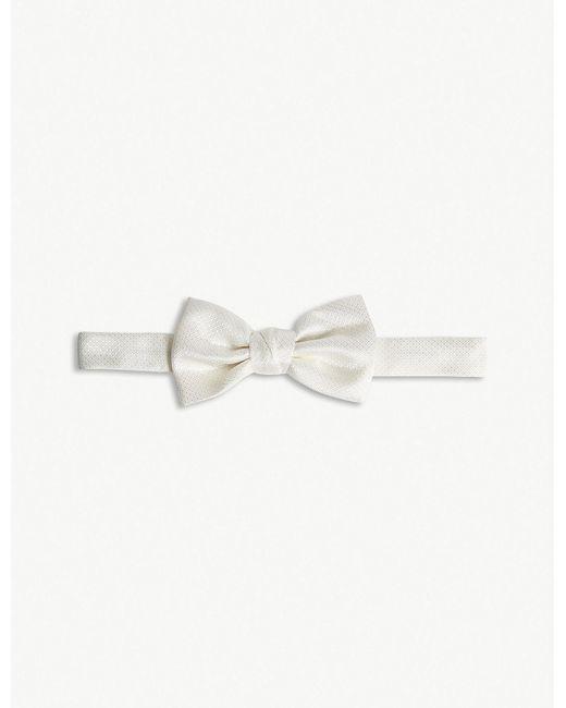Lanvin - White Textured Diamond Silk Bowtie for Men - Lyst