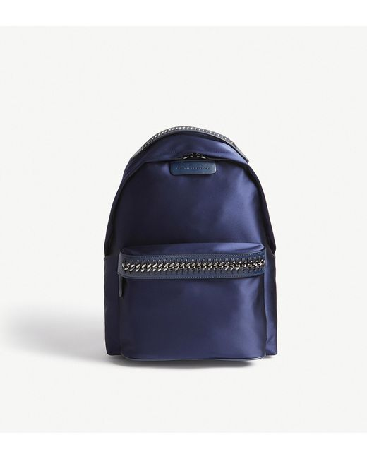 Stella McCartney   Blue Falabella Go Satin Backpack   Lyst