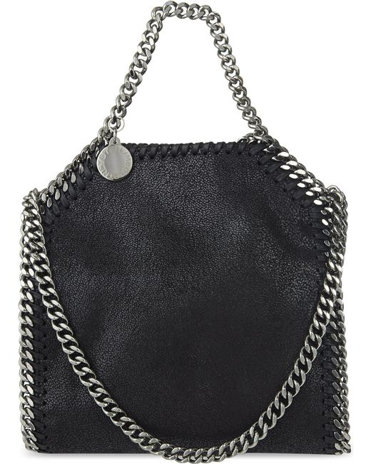 Stella McCartney - Purple Women's Mini Falabella Bag In Black - Lyst