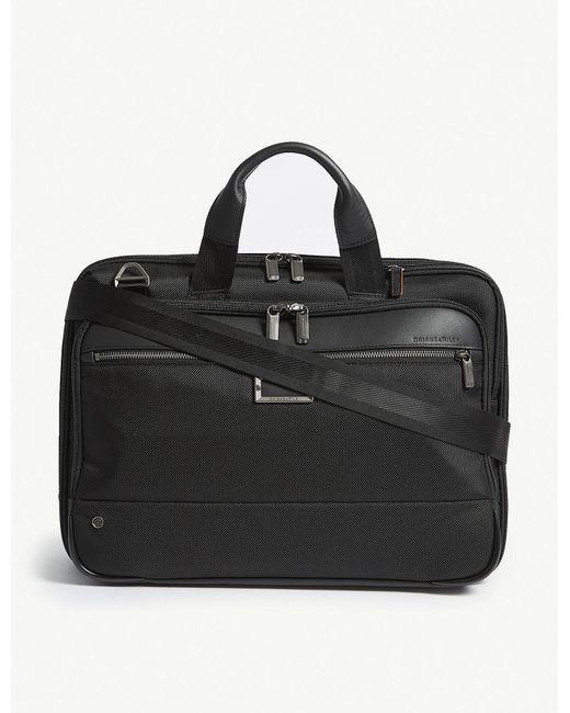 Briggs & Riley - Black @work Medium Expandable Nylon Briefcase for Men - Lyst