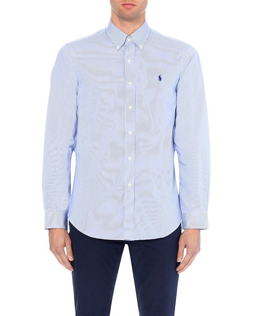 Polo Ralph Lauren | Blue Regular-fit Single-cuff Striped Cotton Shirt for Men | Lyst
