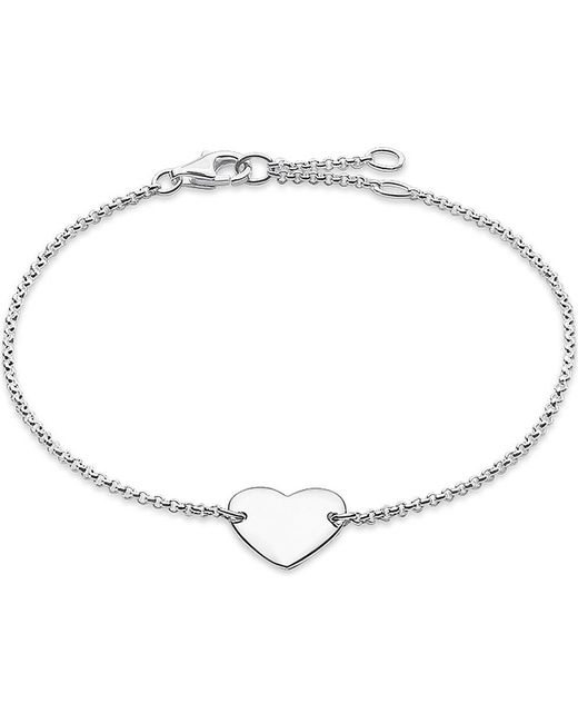 Thomas Sabo   Metallic Classic Sterling Silver Heart Bracelet   Lyst