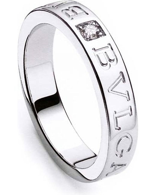 BVLGARI | Metallic - 18kt White-gold Ring | Lyst