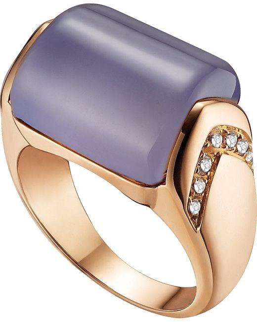 BVLGARI | Blue Mvsa 18kt Pink-gold And Diamond Ring | Lyst