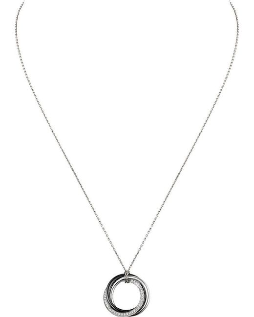 Cartier | Trinity 18ct White-gold And Diamond Pendant | Lyst