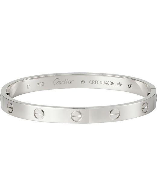 Cartier | Love 18ct White-gold Bracelet | Lyst