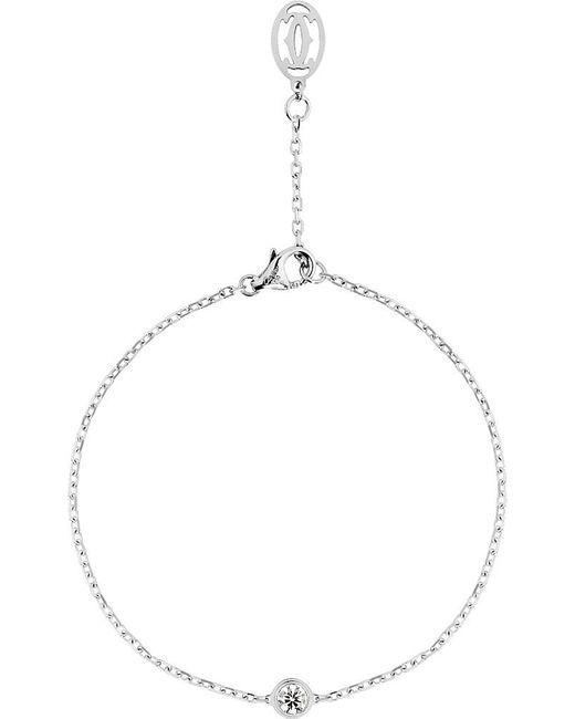 Cartier | Metallic Diamants Légers De 18ct White-gold And Diamond Bracelet | Lyst