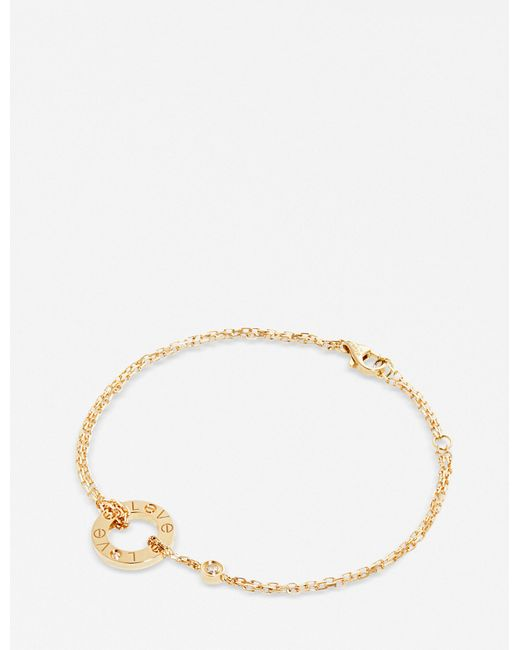 Cartier   Love 18ct Yellow-gold And Diamond Bracelet   Lyst