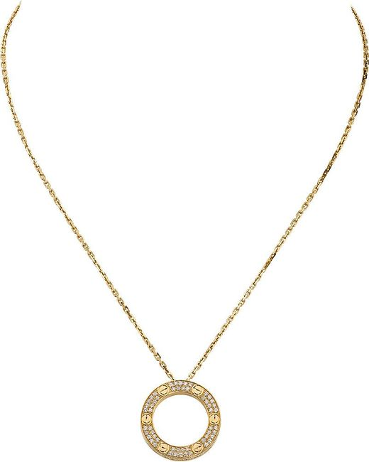 Cartier | Metallic Love 18ct Yellow-gold And Diamond Necklace | Lyst