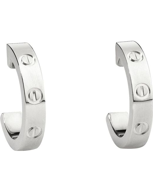 Cartier | Metallic Love 18ct White-gold Earrings | Lyst