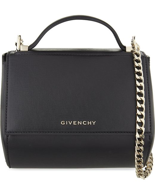 Givenchy | Black Pandora Mini Leather Shoulder Bag | Lyst