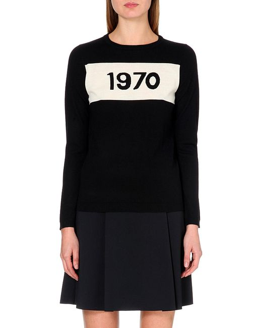 Bella Freud | Black 1970 Wool Jumper | Lyst