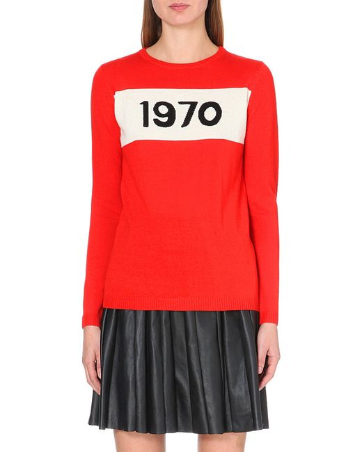 Bella Freud | Red 1970 Wool Jumper | Lyst