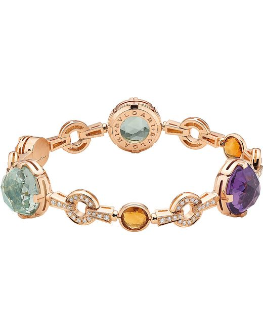 BVLGARI | Multicolor Parentesi Cocktail 18kt Pink-gold Bracelet | Lyst