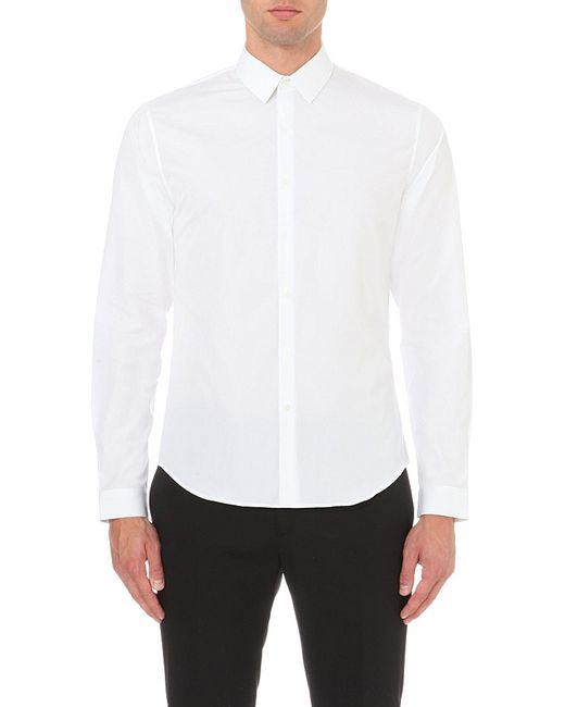 Sandro | White Single-cuff Cotton Shirt for Men | Lyst