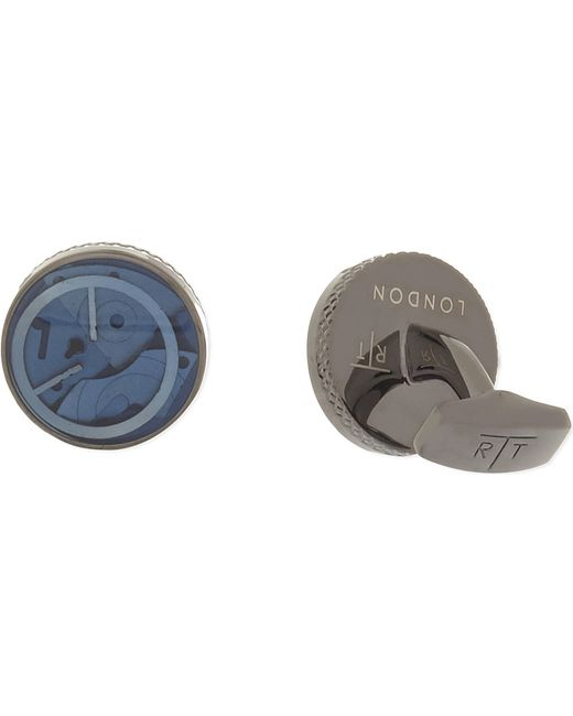 Tateossian | Blue Mechanical Gears Round Cufflinks for Men | Lyst