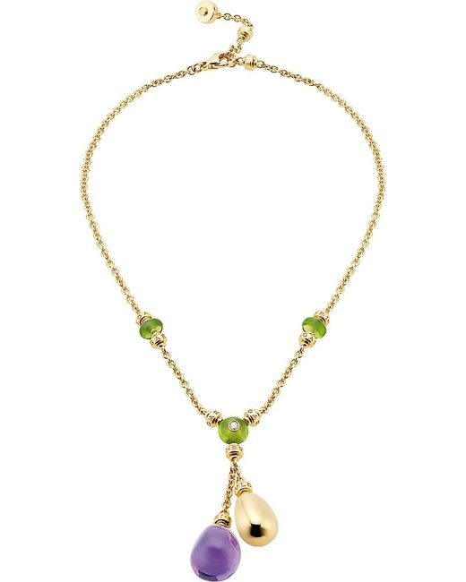 BVLGARI | Purple Sassi Mediterranean Eden 18ct Yellow-gold Necklace | Lyst