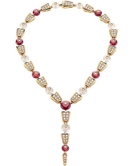 BVLGARI | Serpenti 18kt Pink-gold Rubellite | Lyst