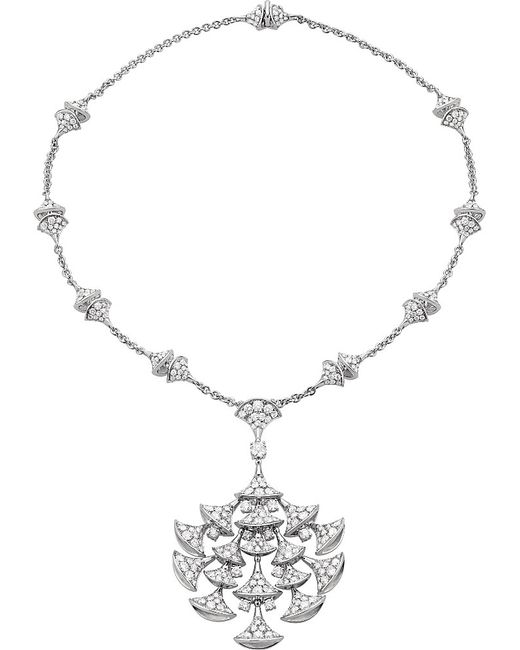 BVLGARI | Metallic Divas' Dream 18kt White-gold And Diamond Necklace | Lyst