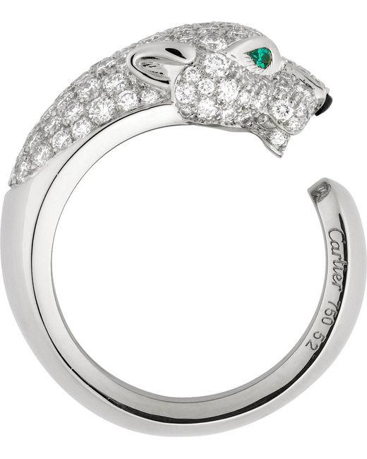 Cartier | Green Panthère De 18ct White-gold | Lyst