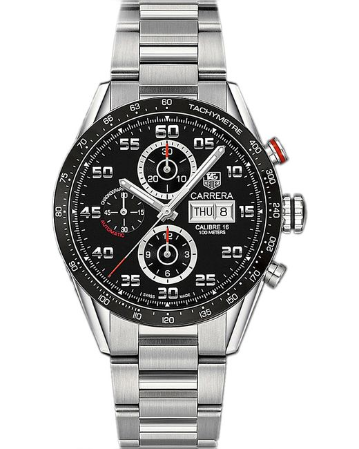 Tag Heuer | Metallic Cv2a1rba0799 Carrera Stainless Steel Watch for Men | Lyst