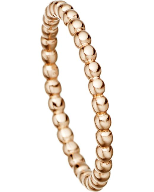 Astley Clarke | Pink 18 Carat Rose Gold Vermeil Beaded Stacking Ring | Lyst