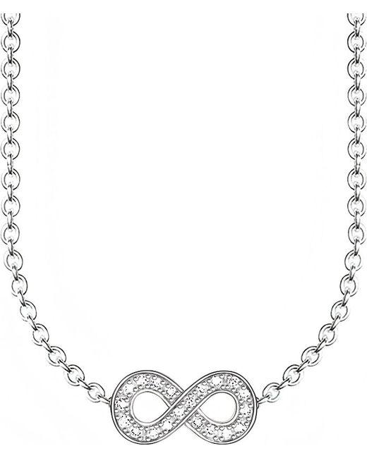 Thomas Sabo | Metallic Glam & Soul Infinity Diamond Necklace | Lyst