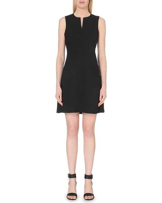 Theory | Black Miyani Stretch-wool Dress | Lyst