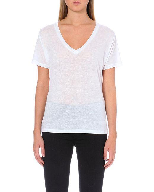 J Brand | White Janis V-neck T-shirt | Lyst