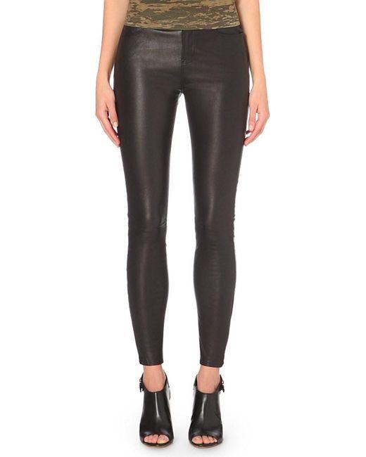 J Brand | Black Maria Skinny Leather Jeans | Lyst