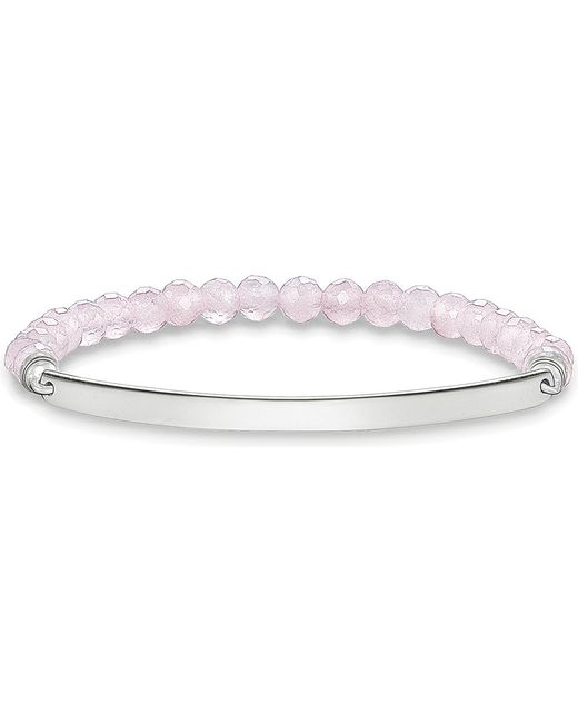 Thomas Sabo | Metallic Love Bridge Sterling Silver And Pink Coral Bracelet | Lyst