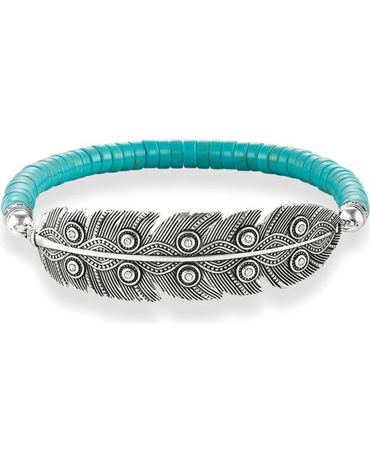 Thomas Sabo | Blue Feather Love Bridge Sterling Silver Bracelet | Lyst