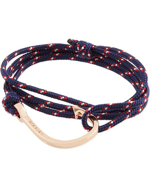 Miansai | Pink Rose Gold Rope Hook Bracelet | Lyst
