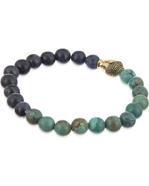 Nialaya | Blue Budda Head Necklace for Men | Lyst